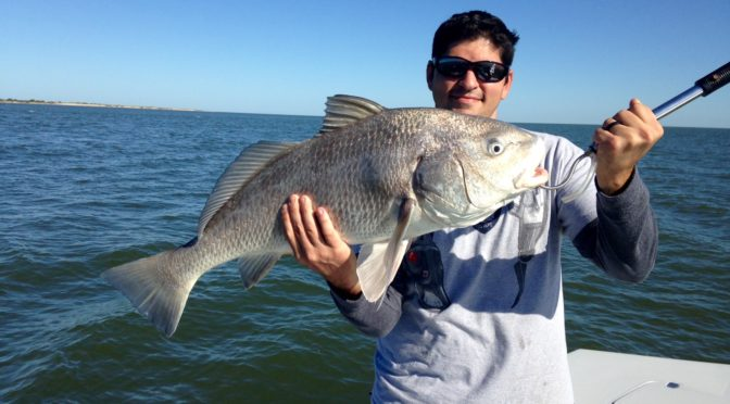 Capt. Nathan Beabout Fishing Report Flounder and Redfish
