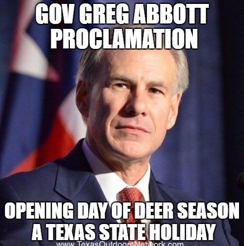 Greg Abbott Proclamation