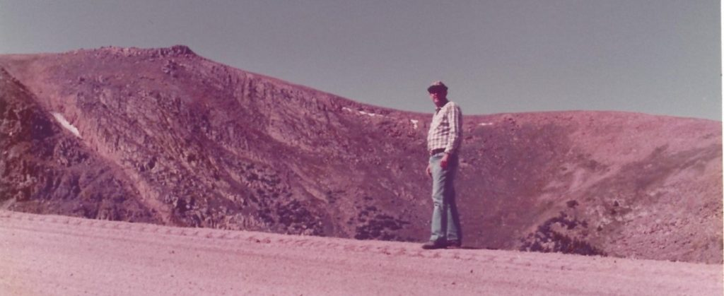 Clarence Scheel on Pikes Peak